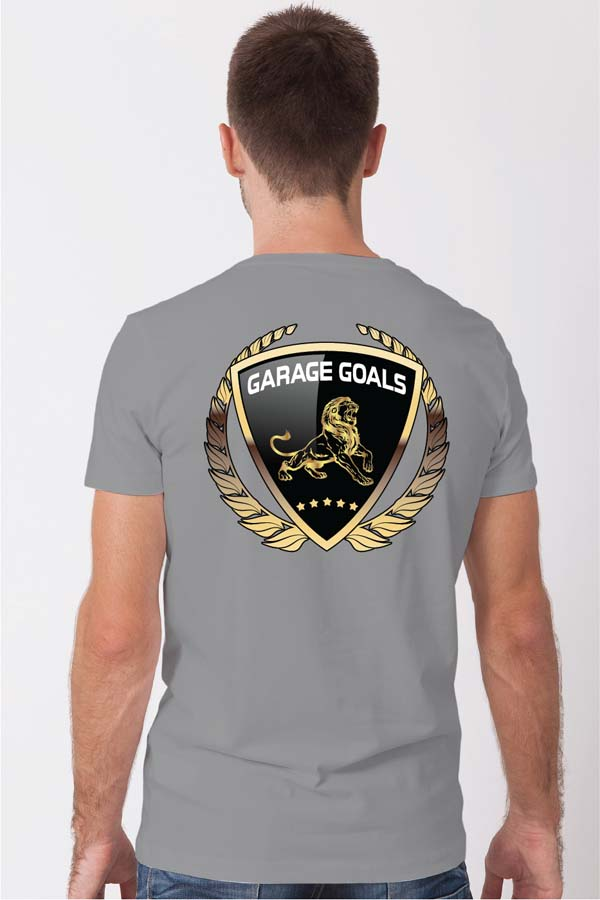 Double Stripe Grarage Goals logo Crew Neck Tee