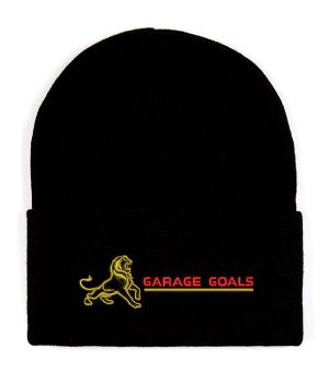 garage goals gold beanie