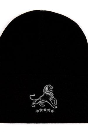 lion stars gray beanie