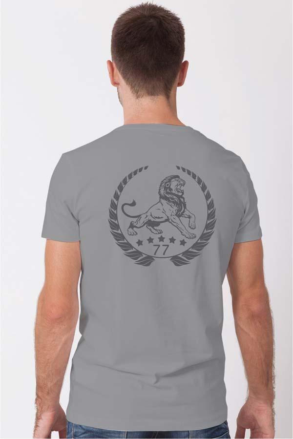 Lion Classic gray back