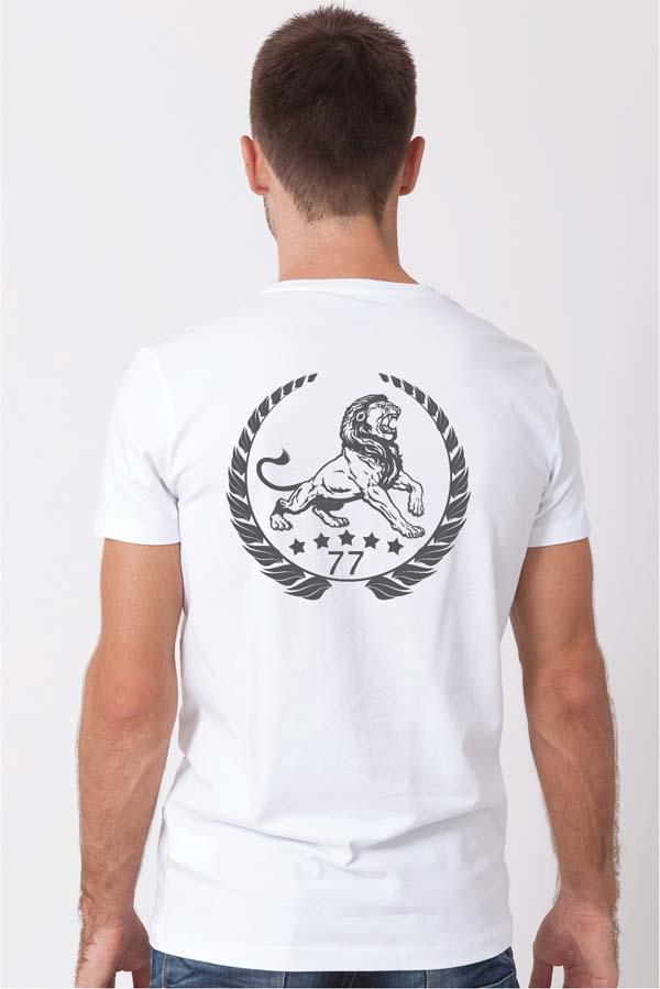 Lion Classic white back