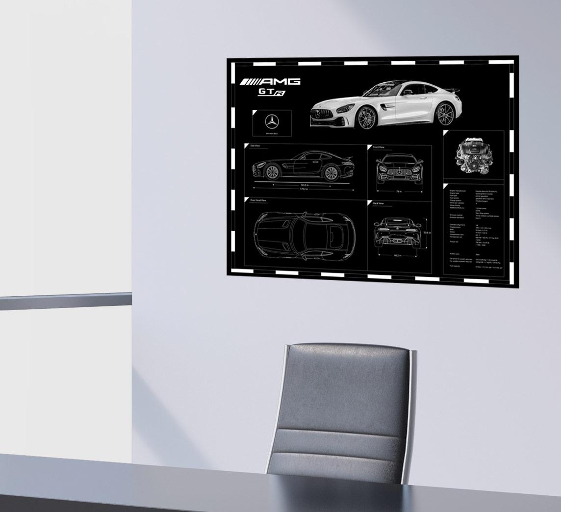 Engraved Car Blueprint on Sale at Garage Goals Official