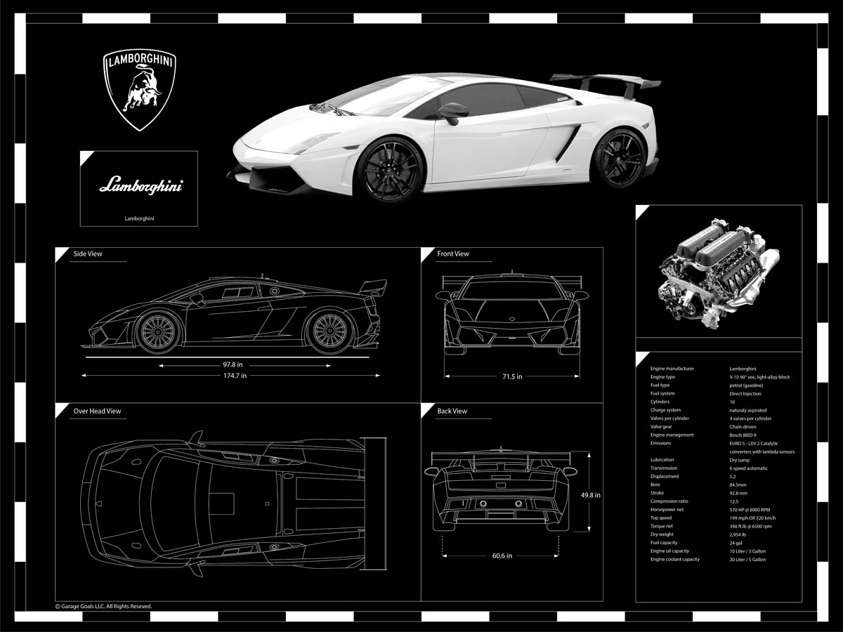 Engraved blueprints garage goals malvernweather Choice Image