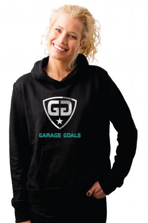 GG cut lines G hoodie black