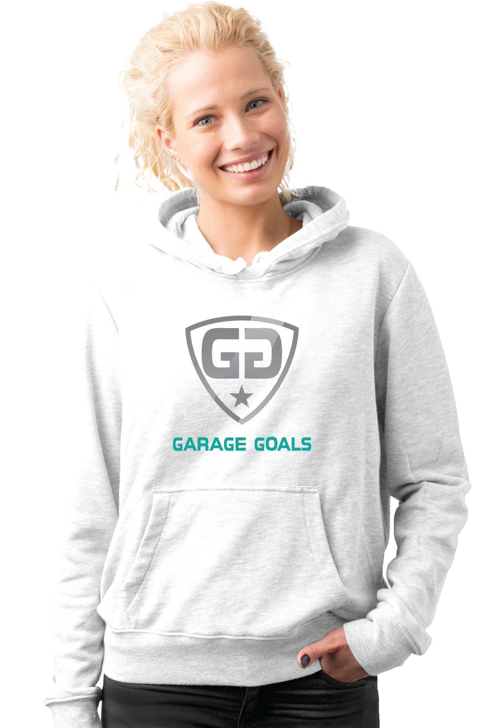 GG cut lines G hoodie white