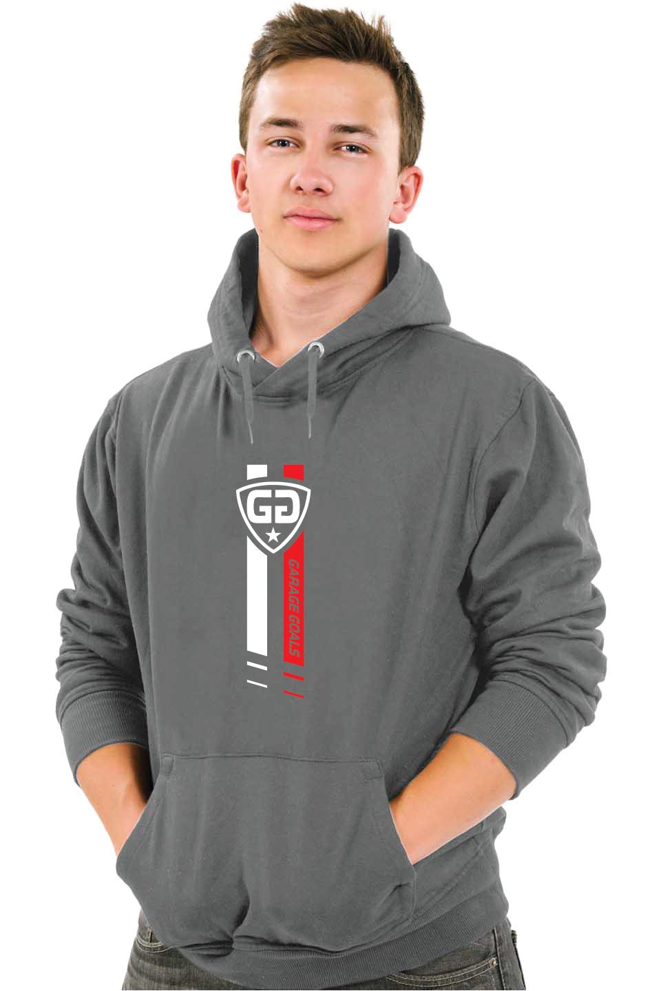 GG star M hoodie gray