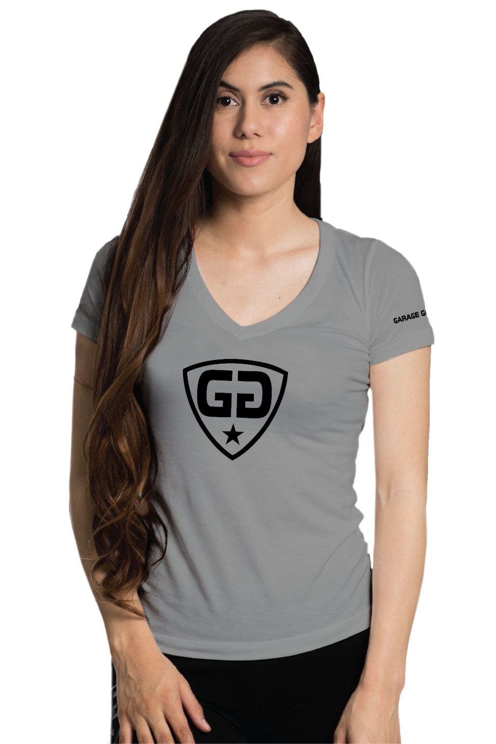 W gg center shield gray