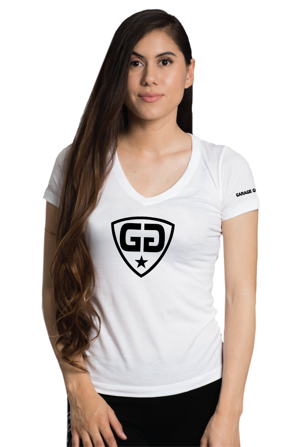 W gg center shield white