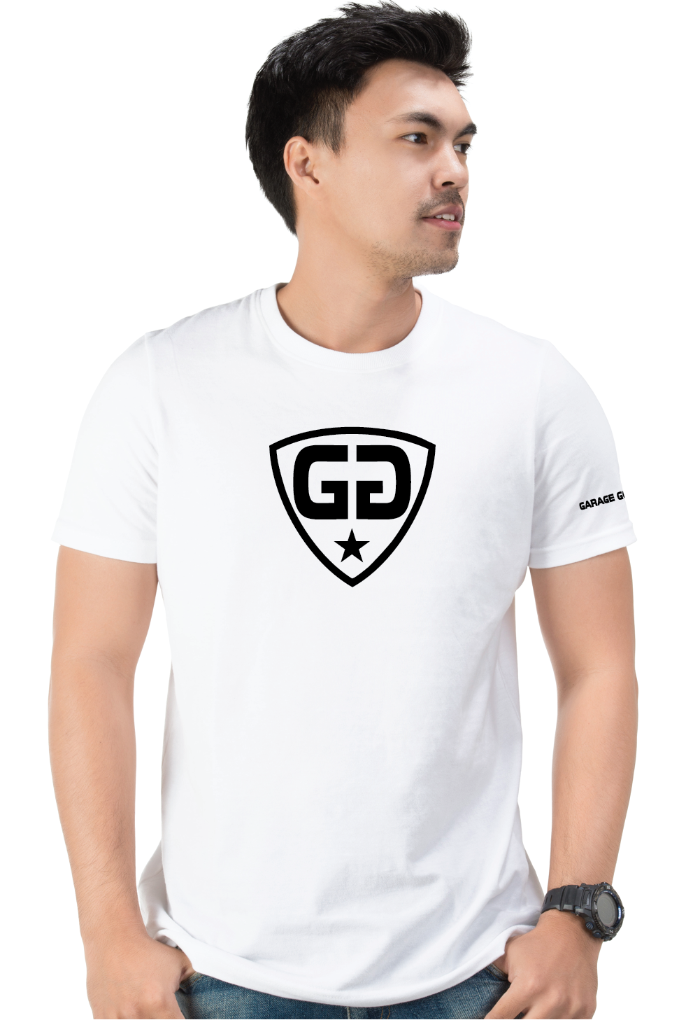 gg center shield white