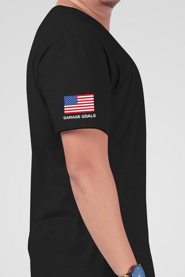 Garage Goals USA side Black Shirt