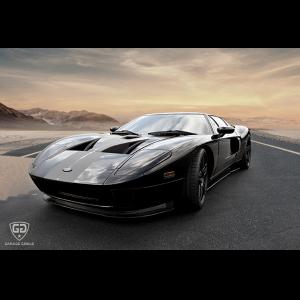 Black Ford GT sand